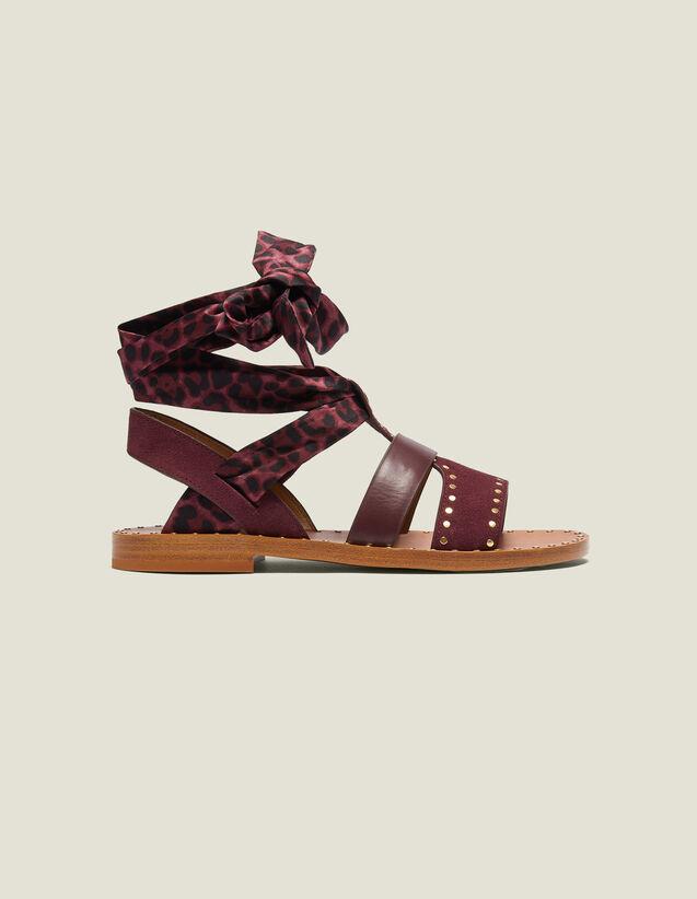Sandalias Planas Con Fular Anudable : Todos Zapatos color Burdeos