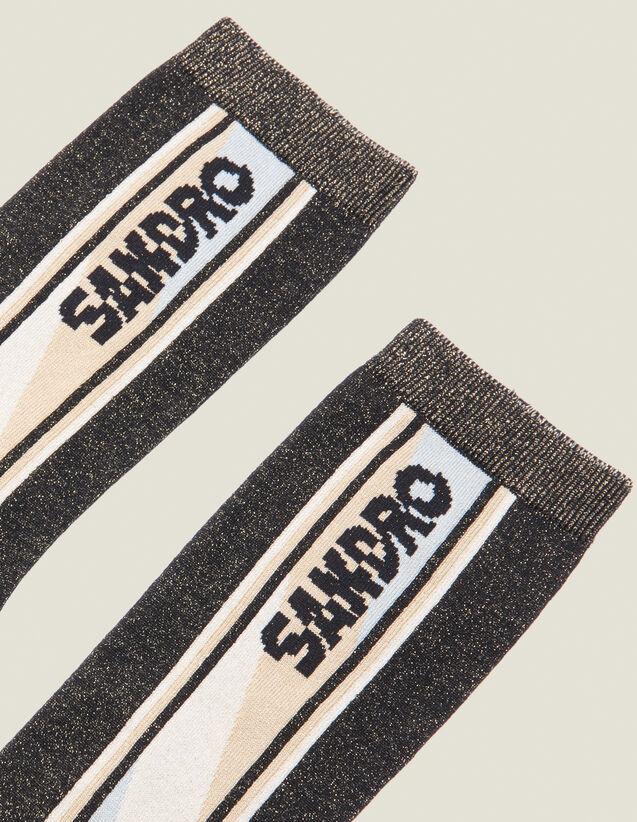 Calcetines De Lúrex : Calcetines color Negro