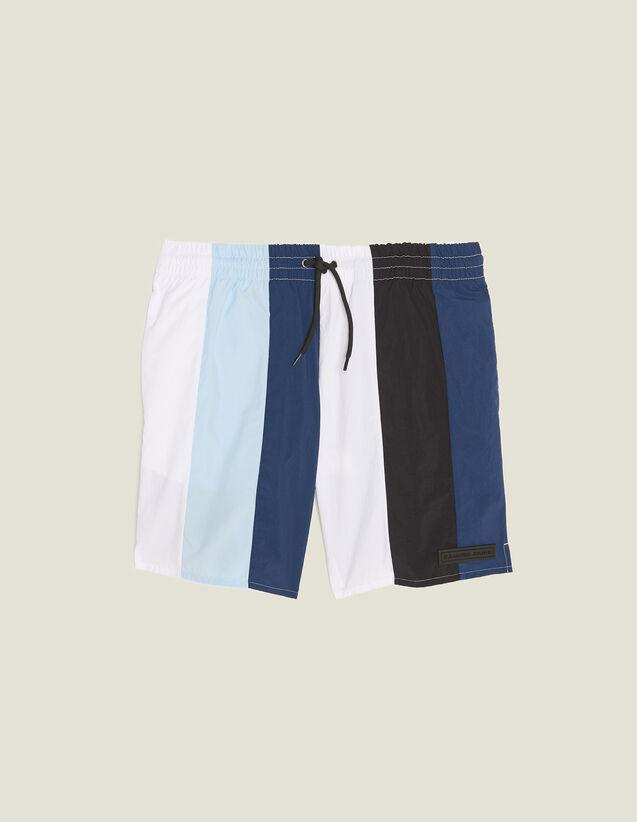 Bañador De Rayas Multicolores : Trajes de Baño color Azul