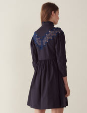 Vestido Corto Con Inserto De Encaje : Vestidos color Marino