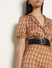Cinturón de doble vuelta de piel : Cinturones color Negro