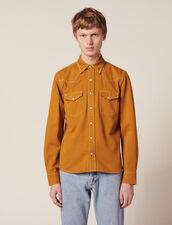 Camisa De Tela De Algodón : JP-UK-HSelectionPAP color Ocre