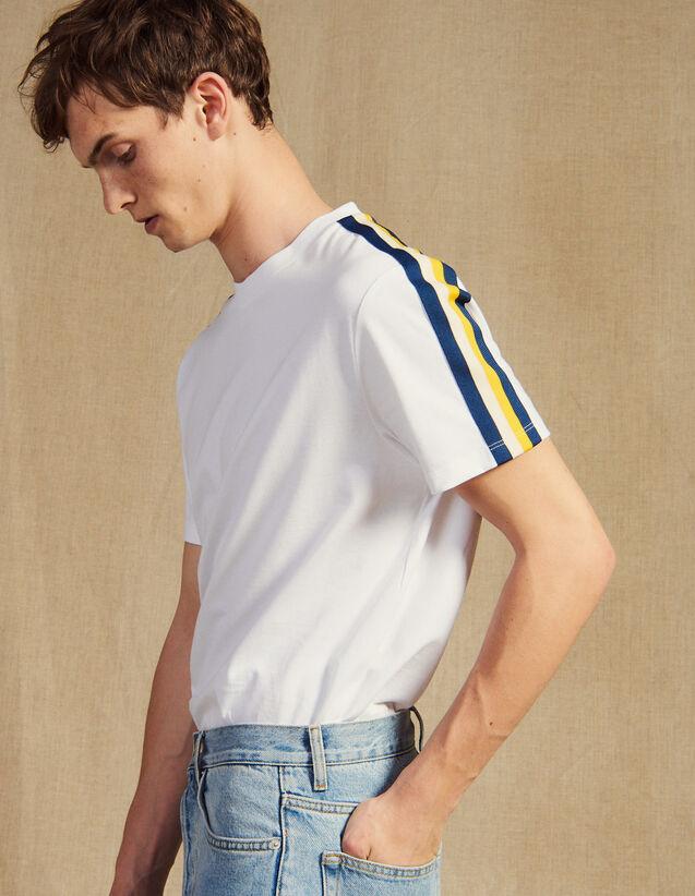 Camiseta Con Pasamanos De Rayas : Camisetas & Polos color Blanco
