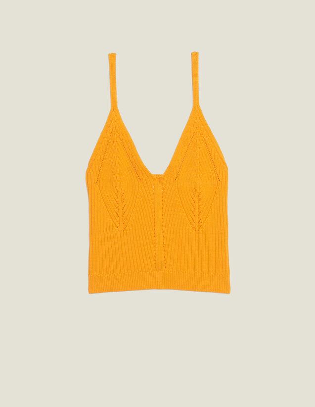 Corpiño De Punto Con Tirantes Finos : Tops & Camisas color Amarillo