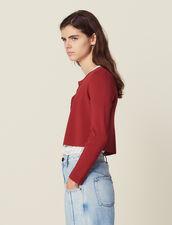 Cárdigan Corto De Punto : Jerseys & Cárdigans color Terracota
