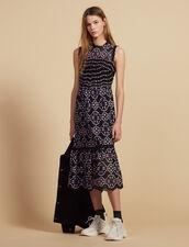 Vestido Midi De Guipur : null color Negro