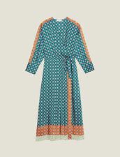 Vestido Largo De Patchwork De Estampados : Vestidos color Verde