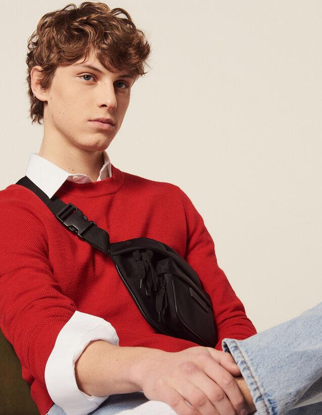 Jersey Fino De Punto De Fantasía : Jerseys & Cárdigans color Rojo