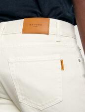 Vaquero ajustado de algodón : Colección de Invierno color Blanco