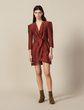 Vestido Corto Cruzado : FBlackFriday-FR-FSelection-50 color Wine