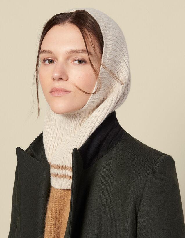 Pasamontañas de lana y cachemira : Toda la colección de Invierno color Crema