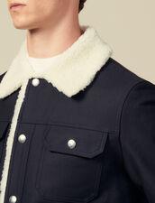 Cazadora, interior imitación de cordero : Toda la colección de Invierno color Marino
