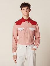 Camisa Wéstern Con Bloques De Colores : Sélection Last Chance color Rosa palo