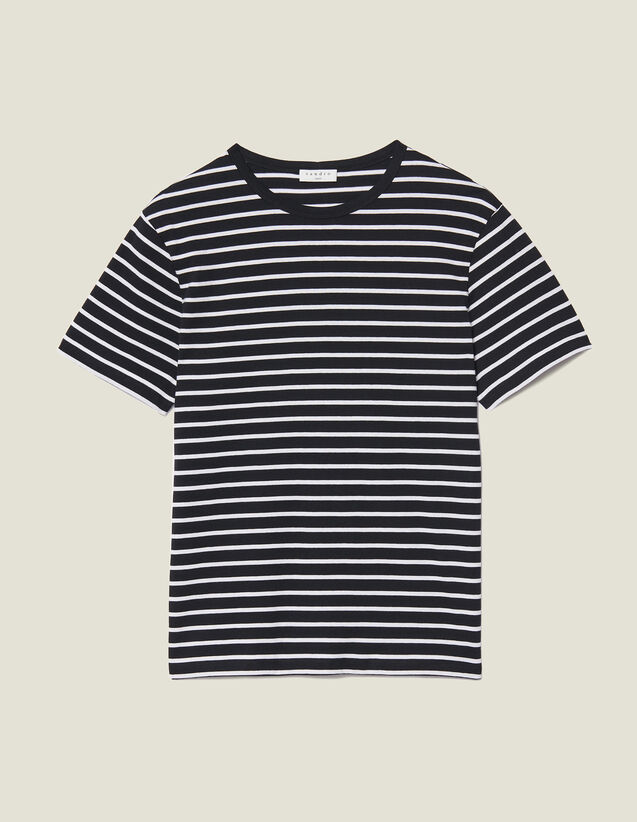 Camiseta marinera : Camisetas & Polos color Negro/Crudo