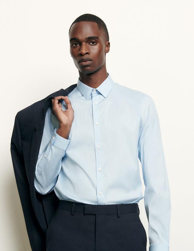 Camisa clásica de corte ajustado : Camisas color Sky Blue