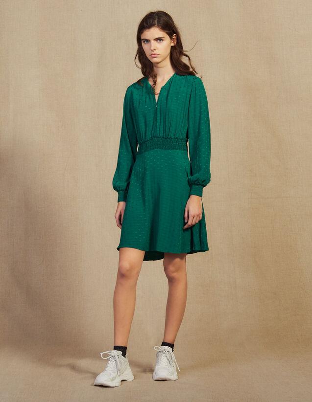 Vestido Corto De Jacquard : LastChance-FR-FSelection color Verde