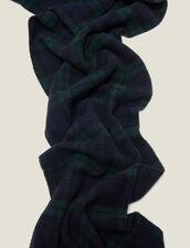 Bufanda De Cuadros De Lana : Bufandas color Vert foncé