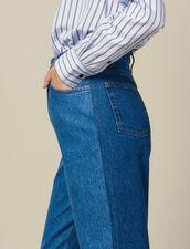 Vaquero De Corte Mom Bicolor : FBlackFriday-FR-FSelection-Pantalons&Jeans color Bleu denim