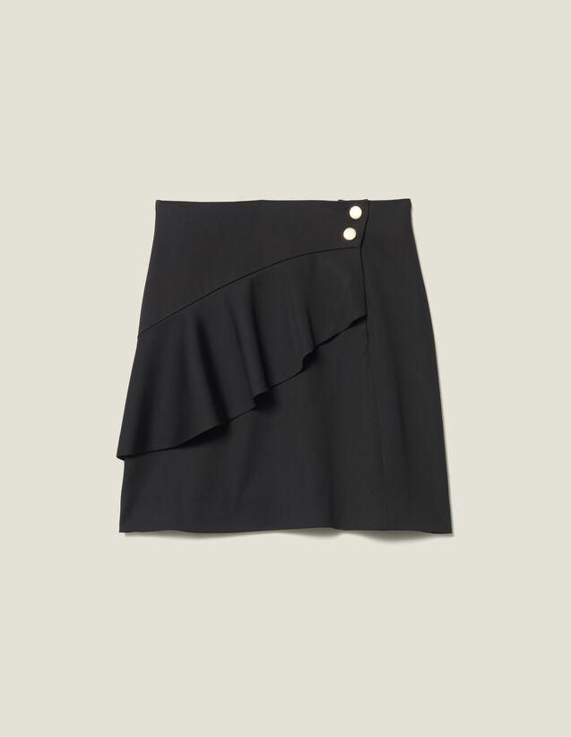 Falda Corta Con Volante Asimétrico : FBlackFriday-FR-FSelection-40 color Negro