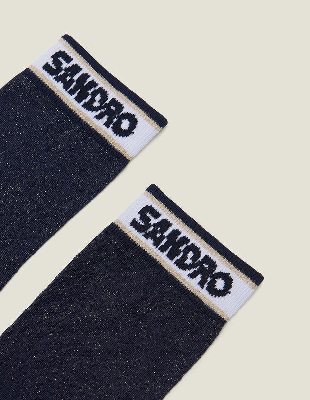 Calcetines De Lúrex Con Logotipo Sandro : null color Marino
