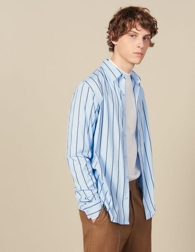 Camisa De Rayas : Colección de Invierno color BLEU / NOIR