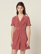 Vestido Corto Estampado De Seda : LastChance-FR-FSelection color Rojo