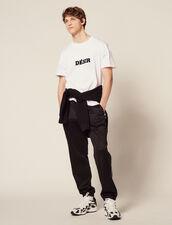 Camiseta De Algodón Con Mensaje : SOLDES-CH-HSelection-PAP&ACCESS-2DEM color Blanco