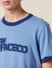 Camiseta Con Mensaje : SOLDES-CH-HSelection-PAP&ACCESS-2DEM color Sky Blue