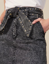 Falda De Talle Alto Con Cinturón : FBlackFriday-FR-FSelection-30 color Negro