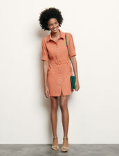 Vestido camisero con botones fantasía : Vestidos color Abricot