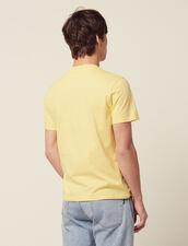 Camiseta De Algodón Con Mensaje : SOLDES-CH-HSelection-PAP&ACCESS-2DEM color Amarillo claro