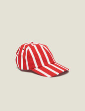 Gorra De Rayas En Contraste : Gorras color Rojo