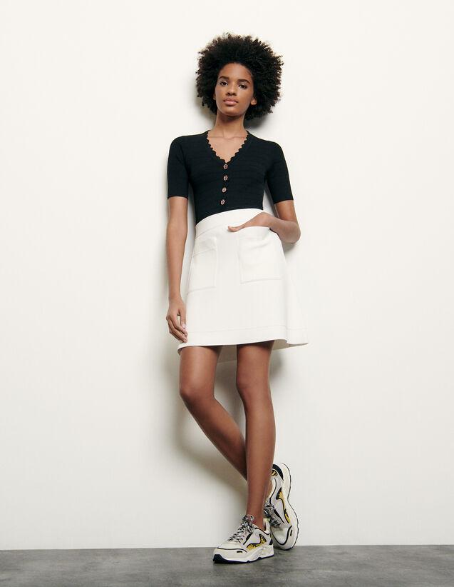 Falda corta de punto : Faldas & Shorts color Blanco