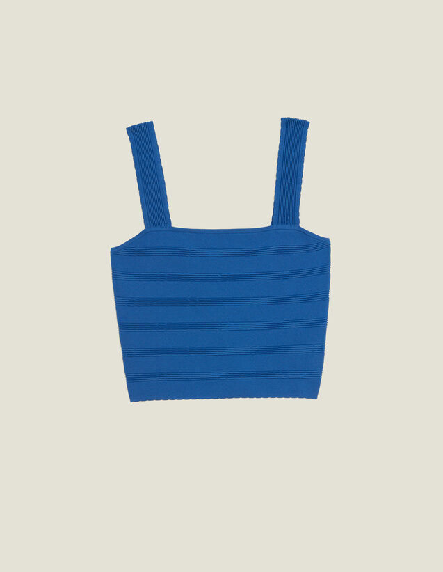 Top Corto De Punto : Tops & Camisas color Bleu jean