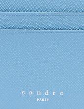 Tarjetero De Piel : Colección de Verano color Gris azulado