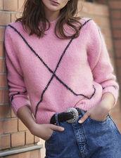 Jersey de pelito de jacquard : Jerseys & Cárdigans color Rosa