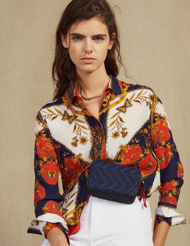 Camisa Estampada De Manga Larga : Camisa estampada color Multicolor