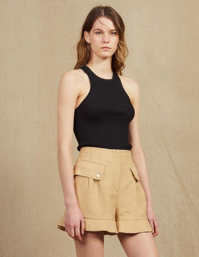 Short Corto Con Volantes : Faldas & Shorts color Beige