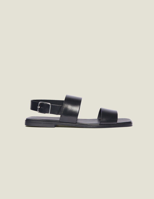 Sandalias De Piel : La maleta de verano color Negro