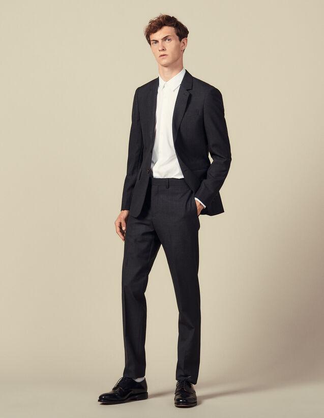 Pantalón de traje pespunteado : Trajes & Smokings color Antracita
