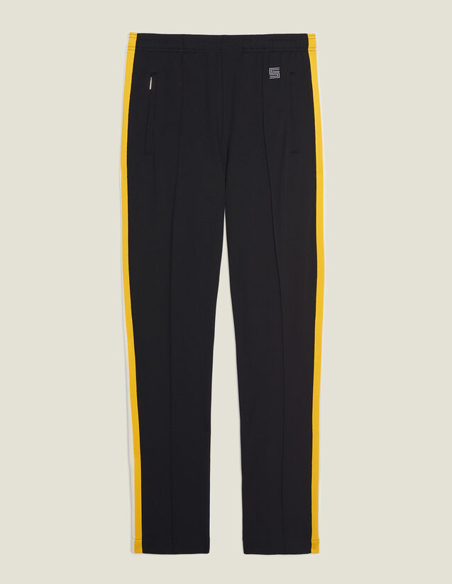Pantalón Jogging De Punto Con Pasamano : SOLDES-CH-HSelection-PAP&ACCESS-2DEM color Negro