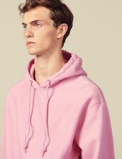 Hoodie De Algodón : Sudaderas color Rosa