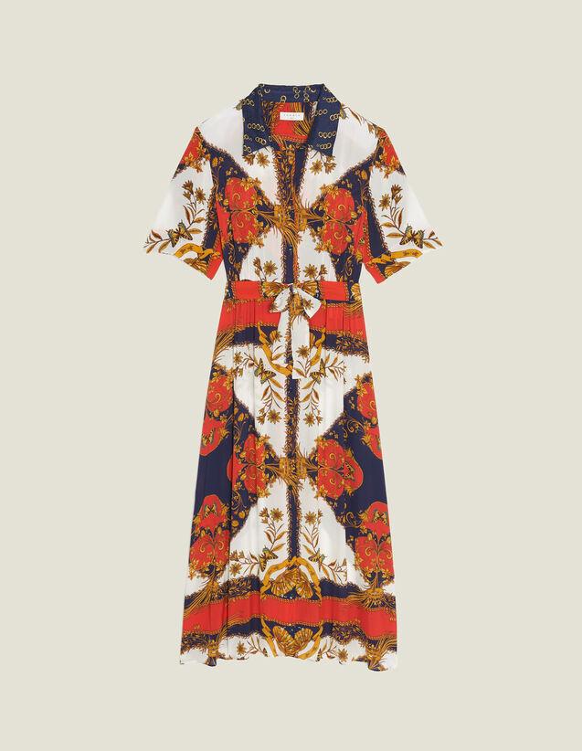 Vestido Camisero Con Estampadofular : Vestidos color Multicolor