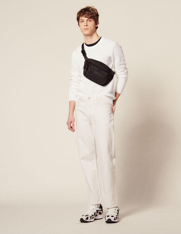 Jersey De Punto En Relieve De Algodón : Jerseys & Cárdigans color Blanco