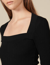 Jersey con escote cuadrado : FBlackFriday-FR-FSelection-30 color Negro