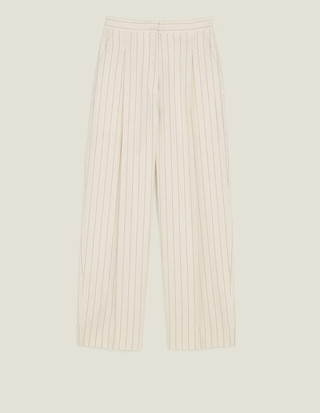 Pantalón De Sastre De Corte Ancho : LastChance-FR-FSelection color Blanco