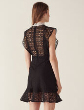 Vestido De Encaje Con Transparencias : Vestidos color Negro