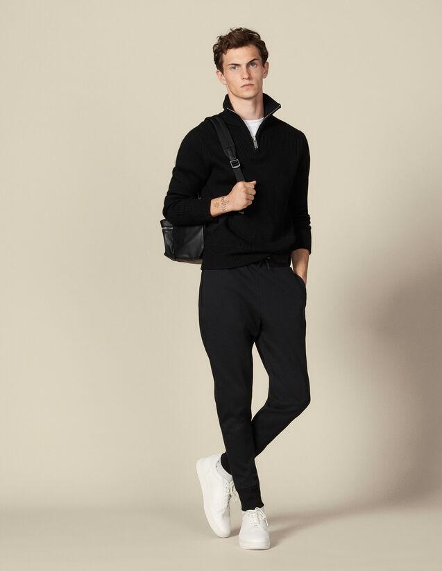 Pantalón de jogging de material técnico : Pantalones & Bermudas color Negro