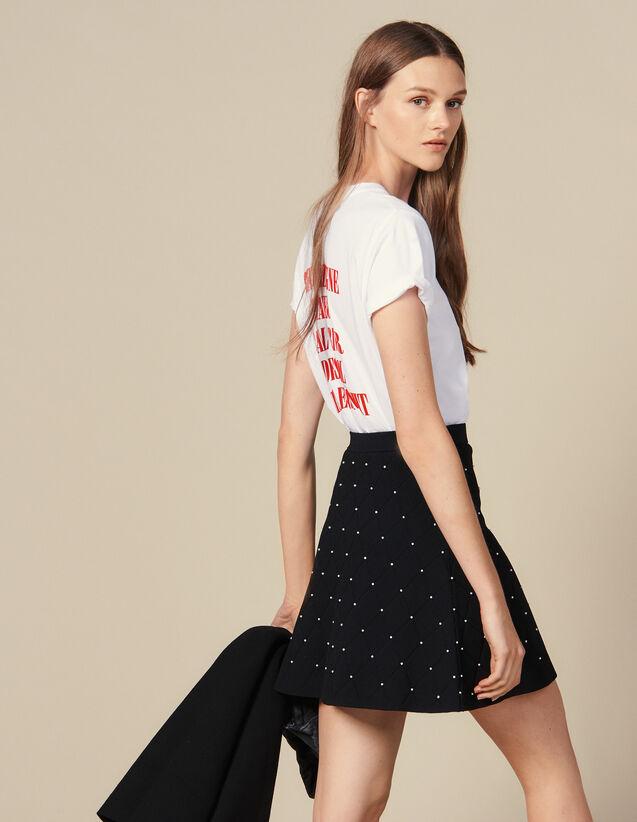 Falda Corta De Punto : Faldas & Shorts color Negro