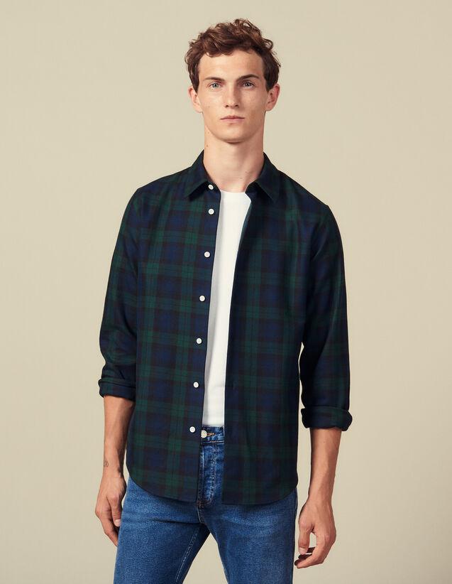 Camisa De Tartán : Colección de invierno color Vert foncé